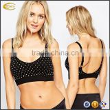 Ecoach Wholesale OEM High Quality Women Scoop Neckline Polka Dot Nursing Bra Adjustable straps Maternity bra for Breastfeeding