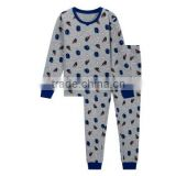 Jiangxi lovely boys sleepwear sets custom cotton/polyester air layer fabric good quality pajamas