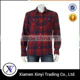 Low MOQ Custom Good Quality Men Casual Plain Flannel Shirts