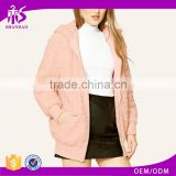 Guangzhou Shandao OEM High Quality Design Winter Women Long Sleeve Pink Shearling Real Mink Fur Coat