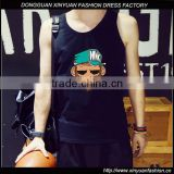 Latest Mens Elastic Gym Vest Design Pinted Tank Top For Men