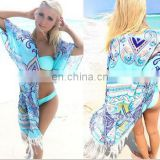 Europe And America Tassels Chiffon Lace Sandbeach Sunscreen Shawl Sandbeach Bikini Skirt