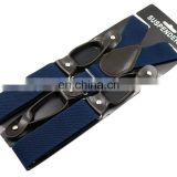 Wholesale X back suspenders high quality with jacquard ribbons and high quality adjustable clips