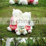 HI CE lovely plush toys for crane machines gift valentine white teddy bear with red heart