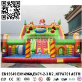 New design inflatable fun city, outdoor inflatable amusement park equipment,inflatable slide for kids