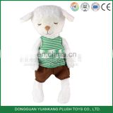 Fat stuffed farm animal lamb dressed mini plush sheep toy