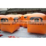 custom giant inflatable sealed air cube shape floating buoys for lake or marine event advertising