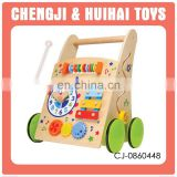 Educational learning set wooden baby walker