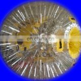 Clear PVC zorb ball with shing ropes