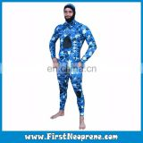 Unisex Sea Blue Stealth Style Neoprene CR Underwater Spearfishing Wetsuits Scuba