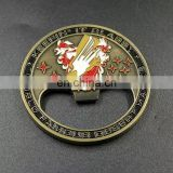 Metal custom beer bottle opener with custom logo,military badge bottle opener,New promotional wholesale products metal coin