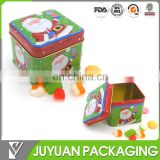 2017 sweet square christmas gift meatl tin can packaging manufacturer