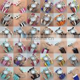 Wholesale braided wrist watch china watch lady bracelet watch