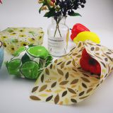 Custom Patterns Design Eco-Friendly Healthy 3 Pack Reusable Beeswax Food Wrap