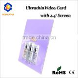 "2.4"" mini Video recorder recordable greeting card blank recordable card"