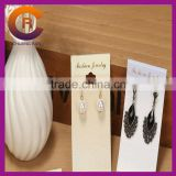 White PVC logo printed cheap custom jewelry card neckalce packaging