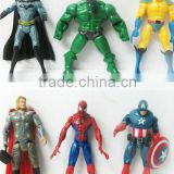 2015 newest Light super hero Spiderman Captain America Batman Superman doll toy 6pcs/set