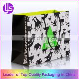 Wholesale Custom Colorful Animal Printed Paper Shopping Bag With Handles