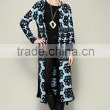 2015 Designer stylish flower heavy knitted graceful casual women sweater cardigan wholesale D1691503