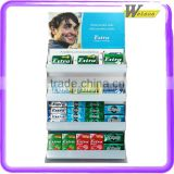 Xylitol chewing gum promotion corrugated paper pallet display stand