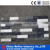 White and black strip natural quartzite stone