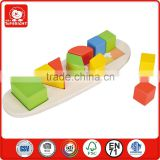 BSCI wooden toys factory wholesale kids toys 17 pcs different colourful shape wooden learning set learning resources