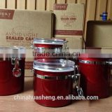 2015 Hot sales painted shining candy box airtight canister seal pot supplied in China
