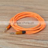 Crystal braided Aux Cable for samsung mobile