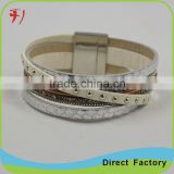 hot selling fashion snap on bracelet design bulk leather bracelet                                                                                                         Supplier's Choice