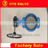 BV-LY-0058 competitive price EPDM seat ductile iron disc gear operated butterfly valve
