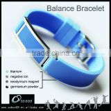 Patented wide silicone wristband silicone bracelet metal plate