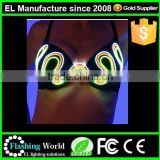led sexy bra and panty new design/light blue lace sexy ladies underwear bra new desi/light up bra and panties