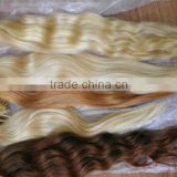 Wholesale top quality natural straight 100% virgin Indian SGIHAIR pretipped hair extension human weft weaving bonded nail i-tip