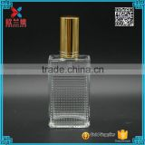 beautiful design 50ml rectangle screw lady glass spray perfume bottle hot sale                                                                                                         Supplier's Choice
