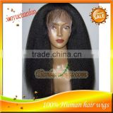 Yaki Straight Lace Front Wigs For Black Women,Cheap Wholesale High Quality AAAAA Indian Virgin Human Hair Half Wig