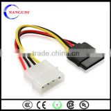 2014 nwe year hot product on alibaba in China ul 2919 computer cable sata splitter cable
