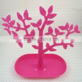 plastic necklace rotating stand / jewelry display adjustable tree stands