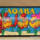 Customized rubber 3d pvc fridge magnet TOURIST SOUVENIR Aqaba Jordan Rubber FRIDGE MAGNET ----DH20463