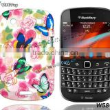Butterfly Flower Color Printed TPU Gel Skin Case Floral Cover Silicon Case For BlackBerry Bold Touch 9900 / Mixed Designs