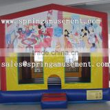 Mickey-Mouse theme printing inflatable jumping castles with hook and loop fastener for sale sp-pp007
