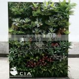 Artificial vertical garden wall panels with turf back for architectural projects landscaping