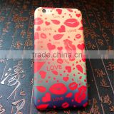 Mobile Phone Case Soft Tpu Matte Frosted Phone Case for iphone 6 with lipstick