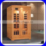 New design corner indoor carbon infrared sauna room