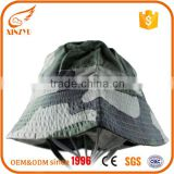 UV Protection cap white and green sun bucket hat with strings