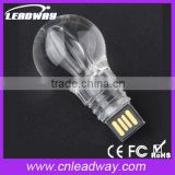 Fascinating LED acrylic light bulb shape USB flash drive 8gb pen drive