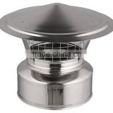 Chimney Cowl with net CE and Stove stainless steel Spigot lock Chimney Cap