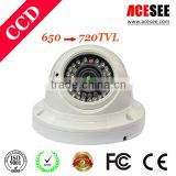 hidden camera long time recording Vandalproof dome cctv camera oem