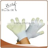 Industrial Work Rubber Lined White Nylon Parade Glove