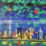SH072 High Quality Paintings Abstract City landscape Canvas Wall Artword for Oil Painting