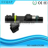 Hot sale auto parts Japanese quality electric genuine fuel injector nozzle FBY2850 16600-EN200 for NV Sentra 2.0L